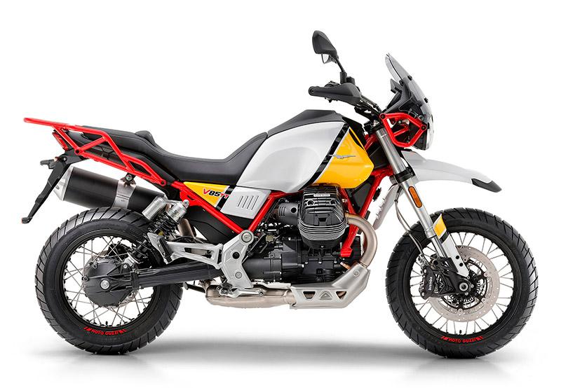 imagen de moto guzzi V85 TT vista lateral