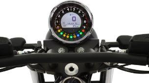 Moto modelo Audace, negro. Marca Motoguzzi