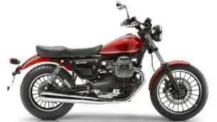 Moto modelo Roamer, color rojo. Marca Motoguzzi